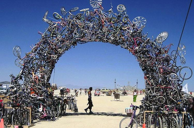 Recycled Art Mark Grieve Bike Arch
