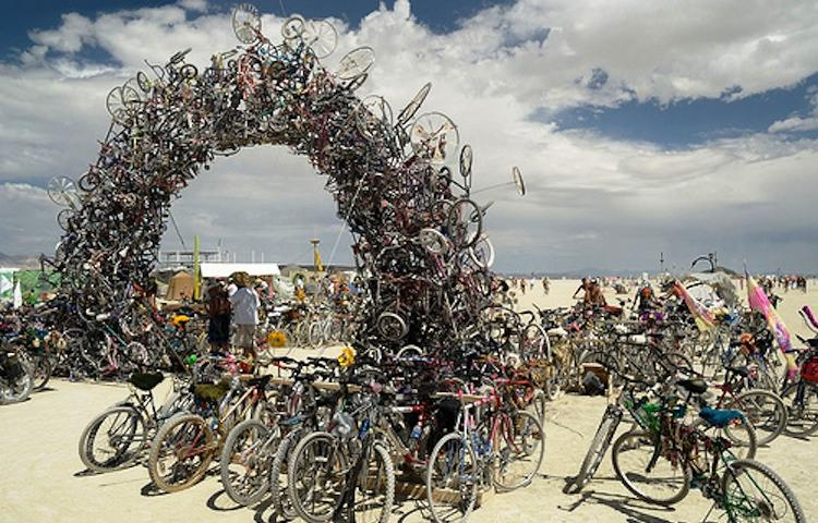 Recycled Art Ilana Spector Recycled Bike Arch