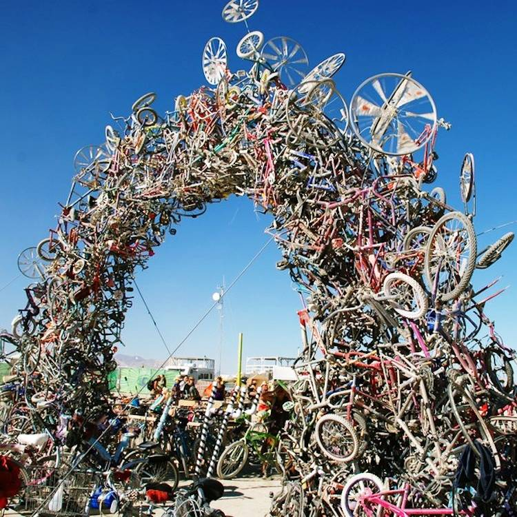 Recycled Art Bike Arch