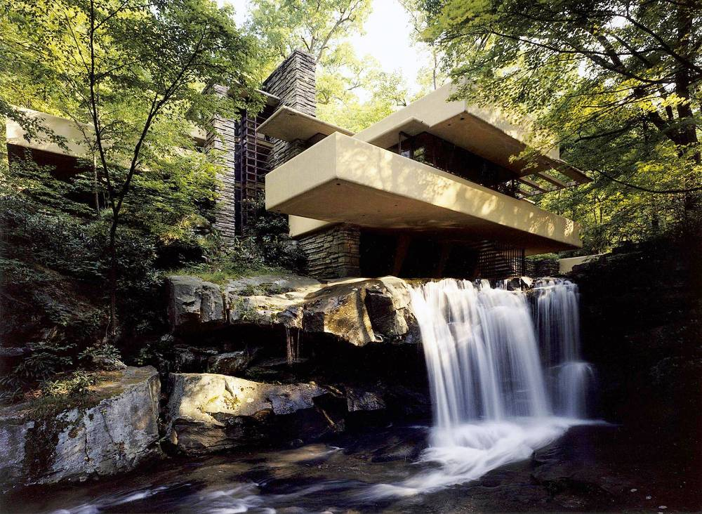 Fallingwater by architect Frank Lloyd Wright