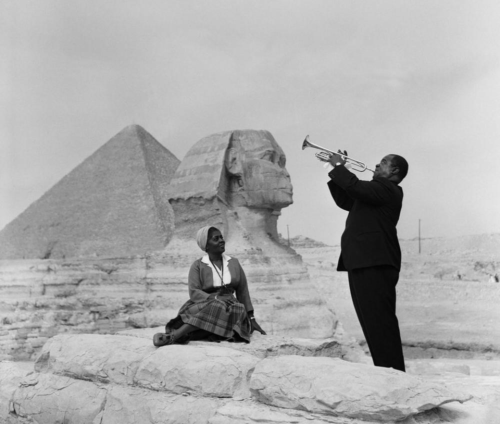 Louis Armstrong At The Sphinx Photograph