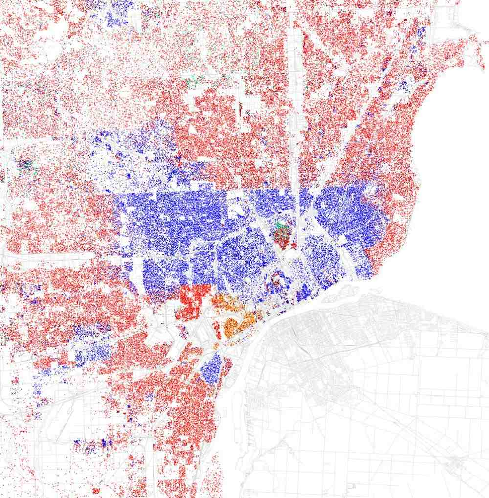 Racial Segregation In Detroit Map