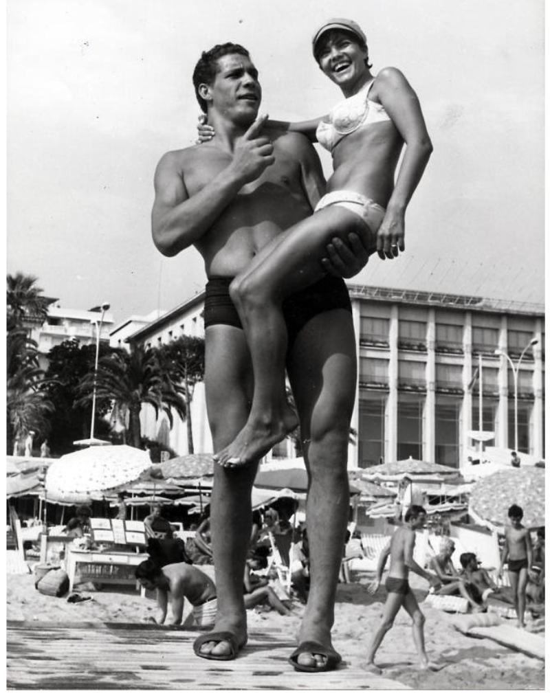 Andre Giant Photograph in Cannes 1967
