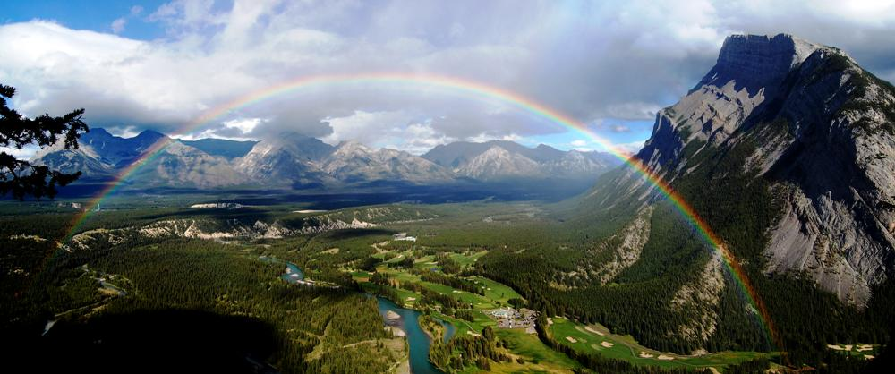Ravishing Rainbow Mount Rundle Canada