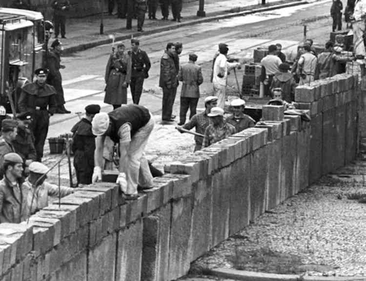 Berlin Wall Construction Photograph