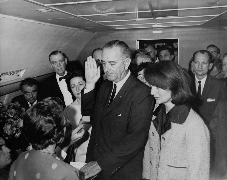 President Johnson Sworn In On Air For Once