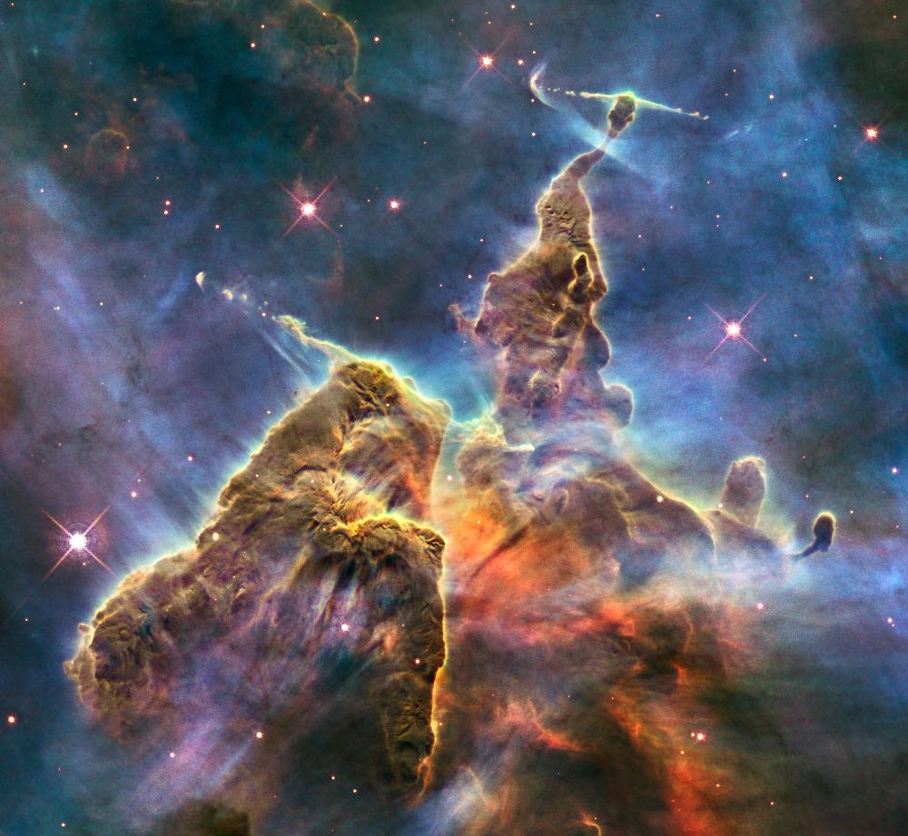 carina nebula dust pillar