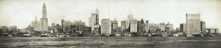 New York City Skyline In 1911