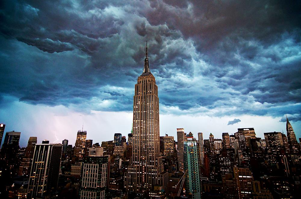 new york city derecho photograph A Derecho Over New York City