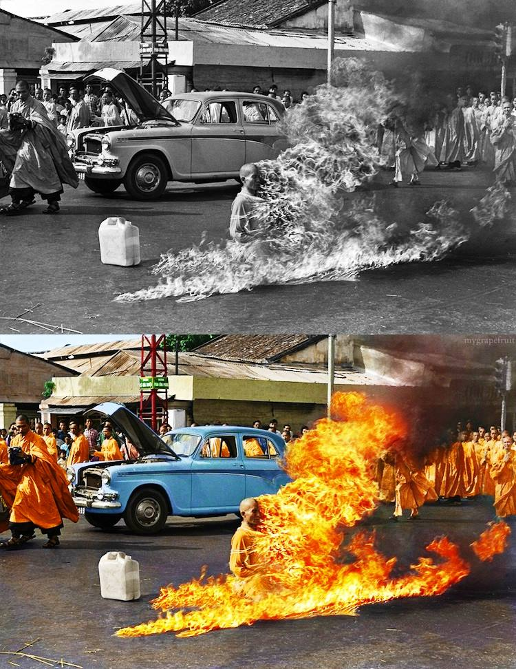 old-images-recolored8-burning-monk
