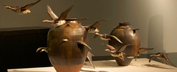 Keiko Masumoto's Geese Vase