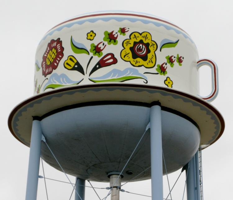 Coffee Cup Water Tower