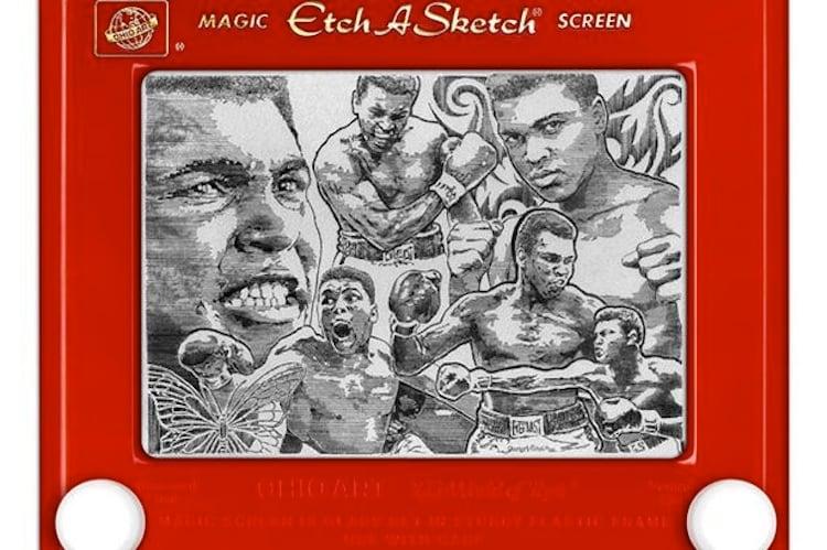 Etch A Sketch Muhammad Ali