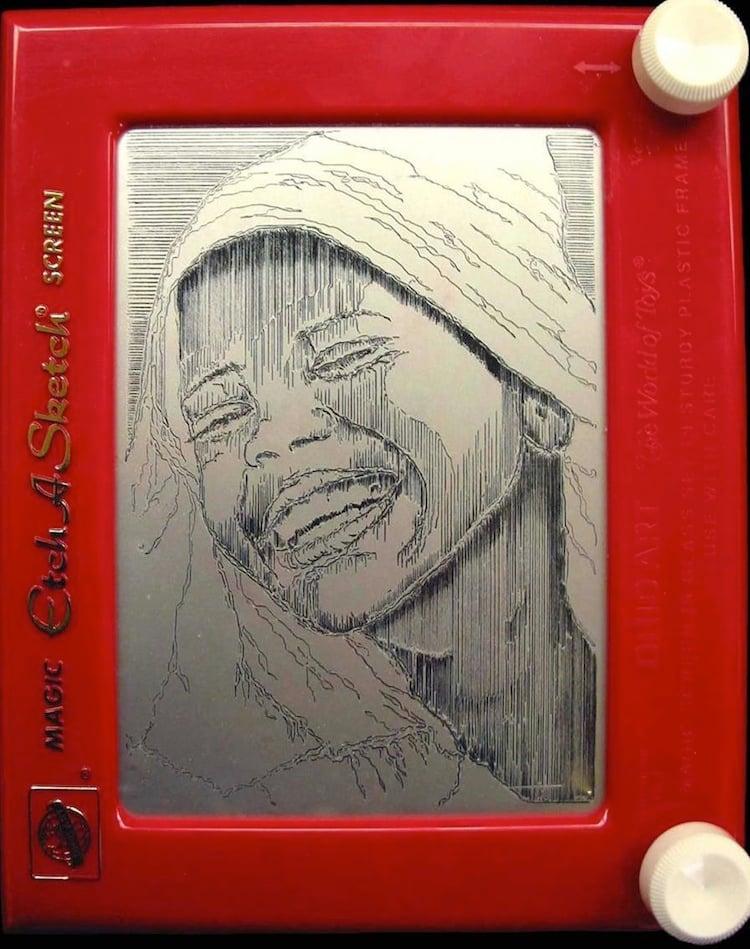 Etch A Sketch Woman