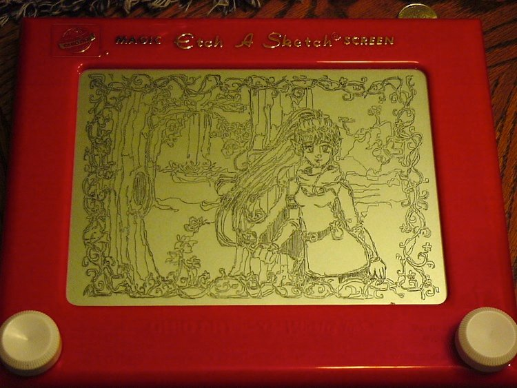 Etch-A-Sketch Art Fairy