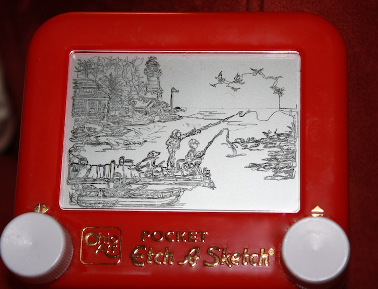 Etch A Sketch Drawing Landscape