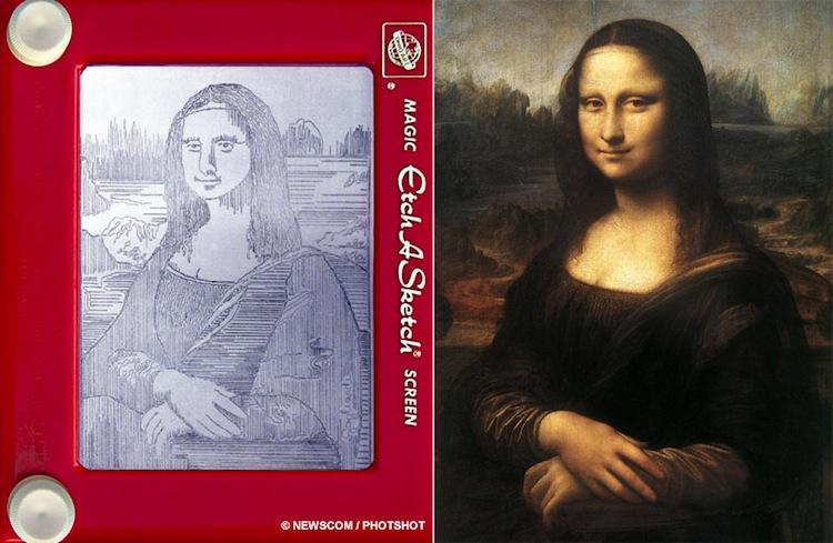 Etch A Sketch Mona Lisa