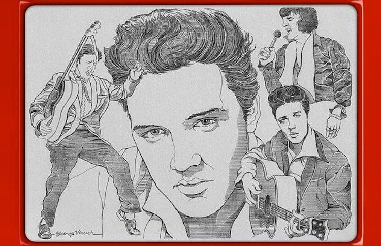 Etch A Sketch Elvis