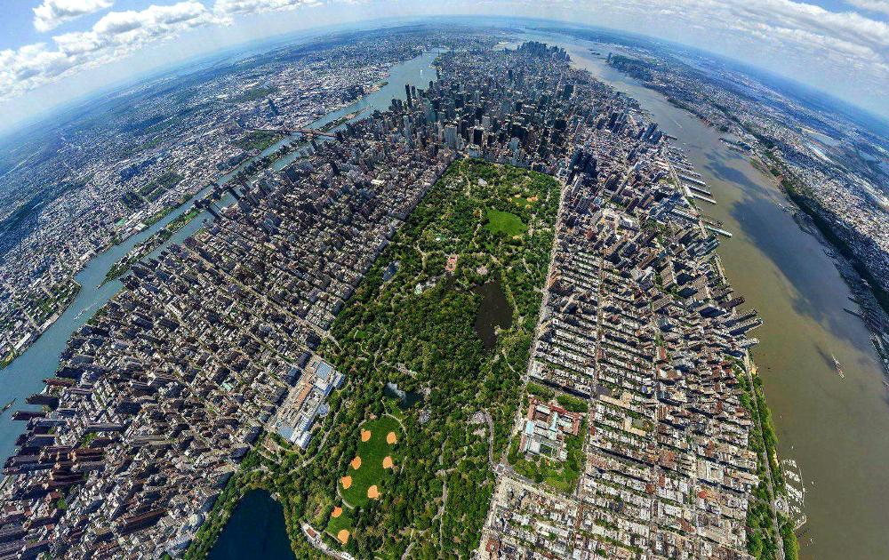 Bird Eyes View Of Central Park