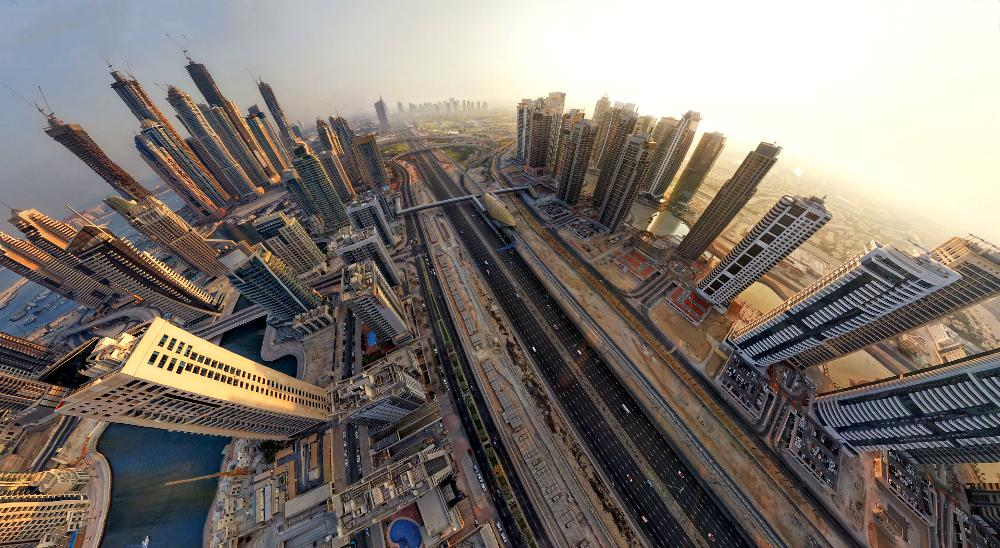 dubai city eagle eye photograph A Dreamy View Of Dubai