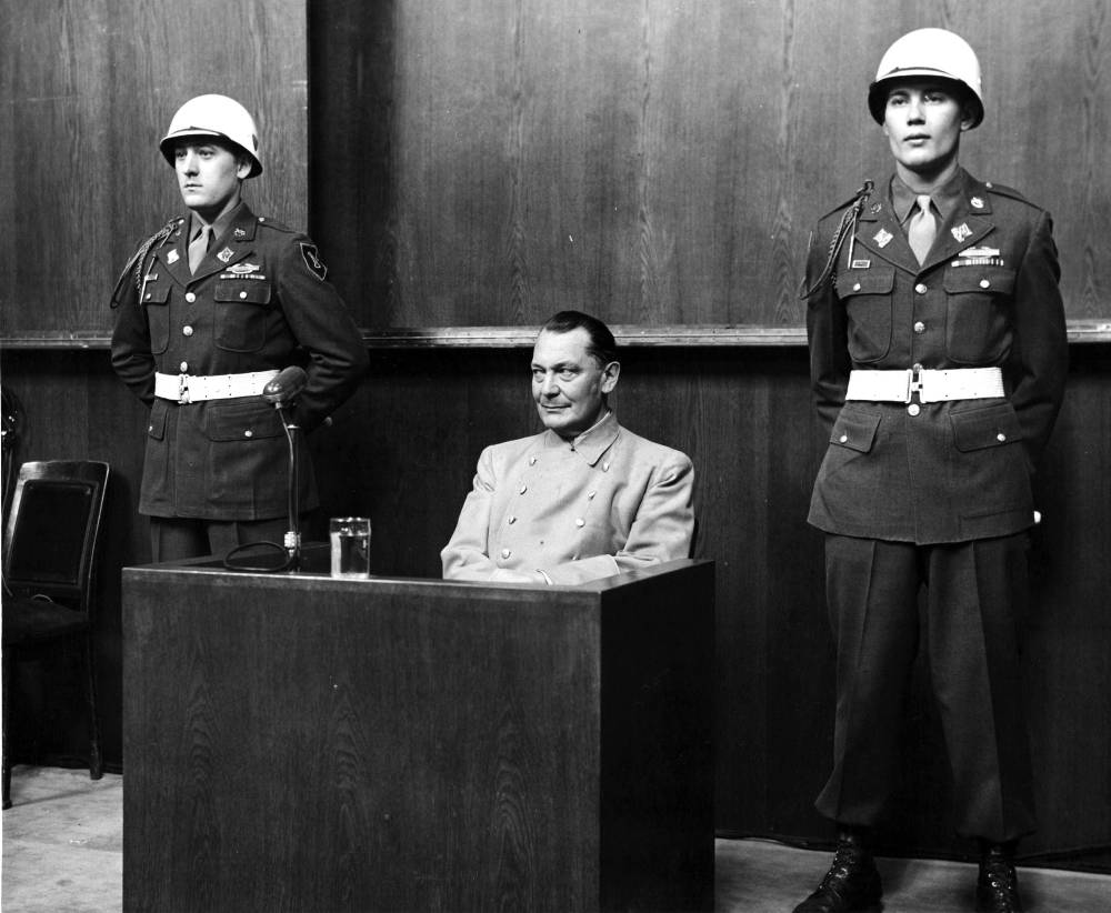 Hermann Goering Tried At Nuremberg