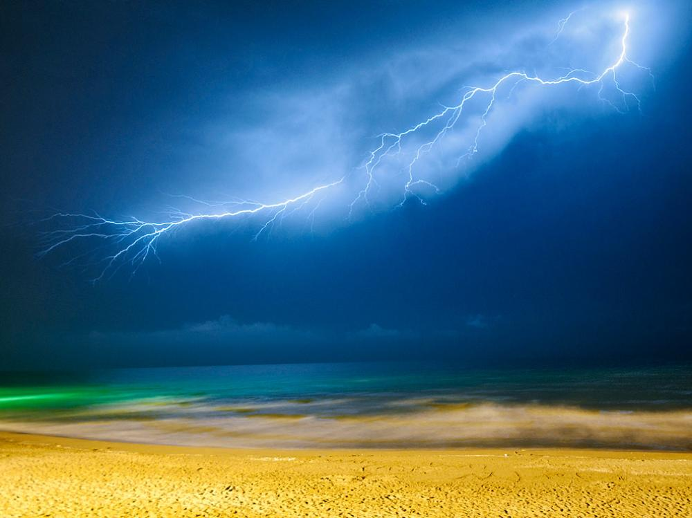 Lightning Over The Caspian Sea
