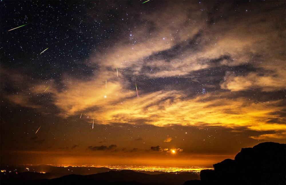 Stunning Meteor Shower Over Denver Photograph