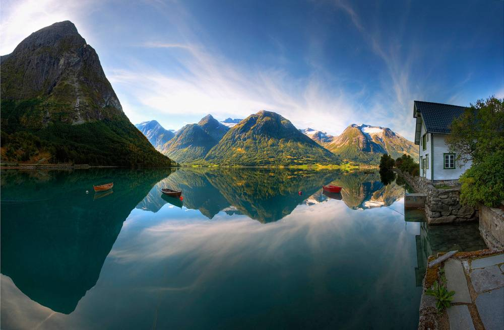 A Perfect Lake In Norway