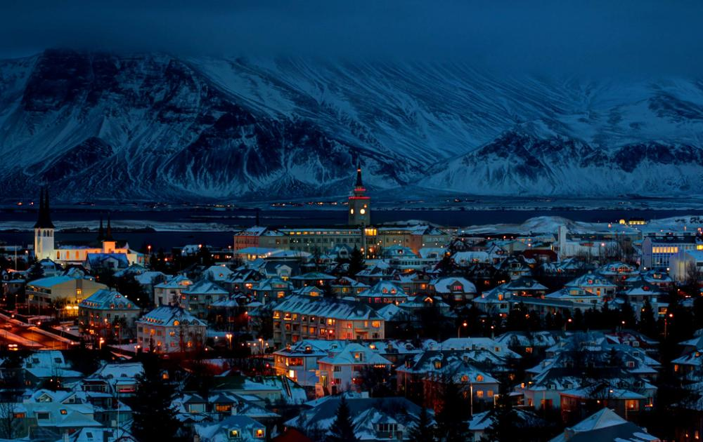 A Silent Winters Night In Reykjavik