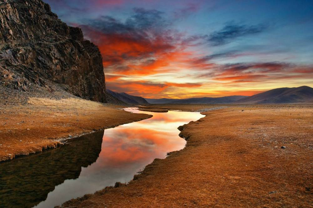 Gobi Desert Sunset Photograph