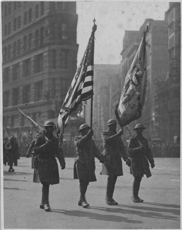 Color Guard In Harlem