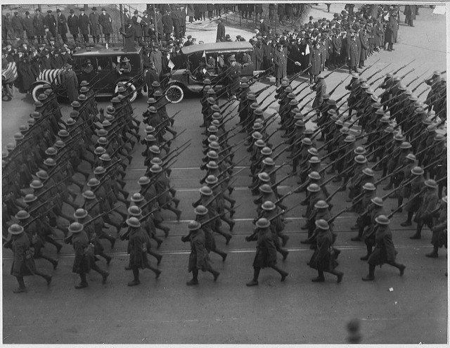 369th Infantry Regiment Marching