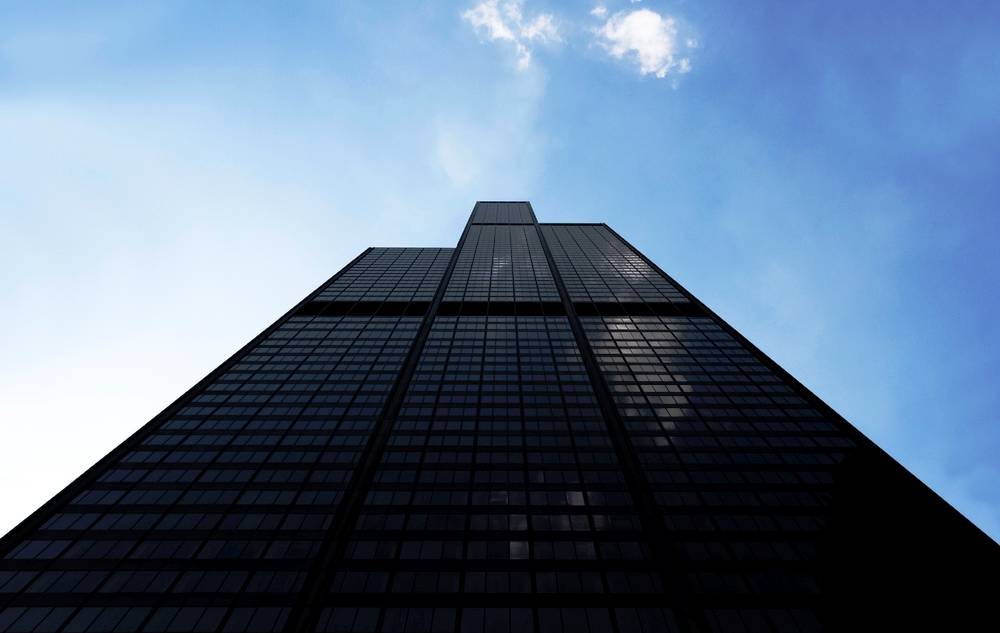 Looking Up At The Sears Tower