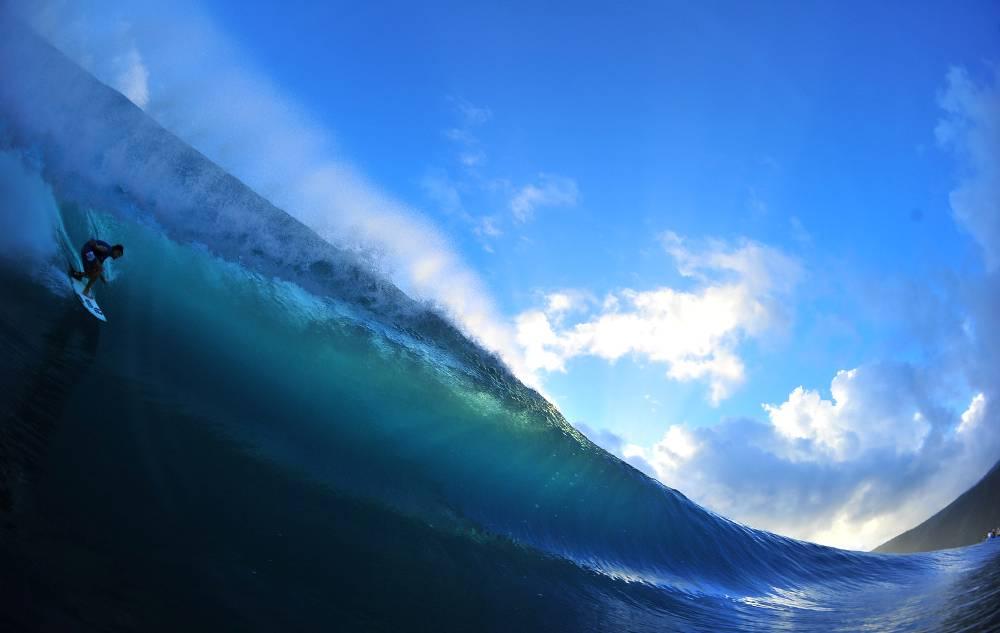 Surfing In Tahiti