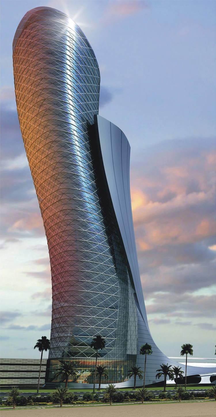 ADNEC Capital Gate Skyscrapers