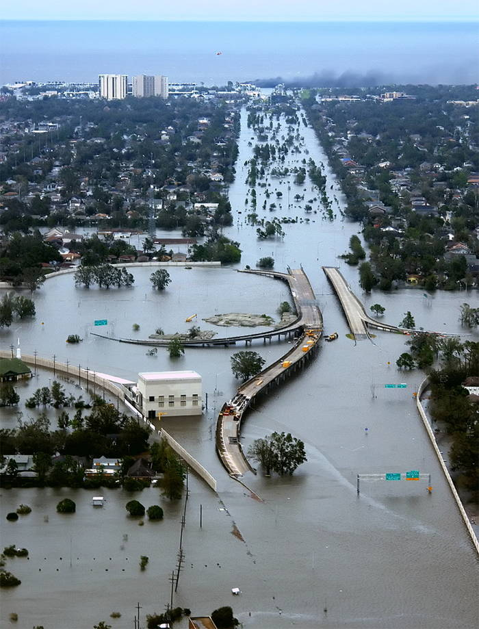 Hurricane Katrina Hitting New Orleans