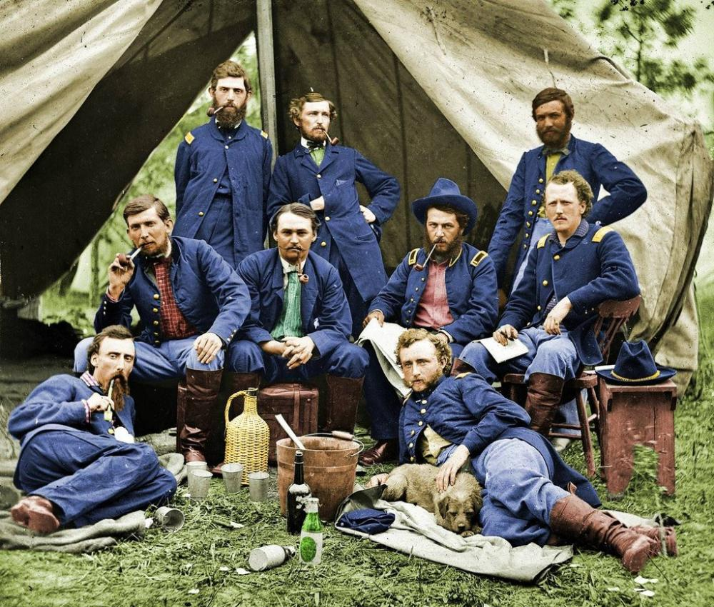 George Custer Color Civil War Photograph