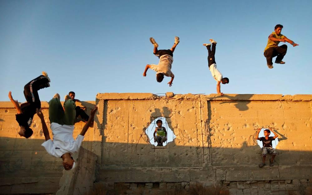 Parkour Practice In Gaza Strip