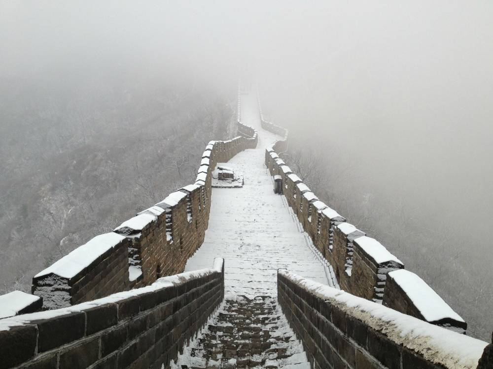 great wall china winter The Great Wall In Winter