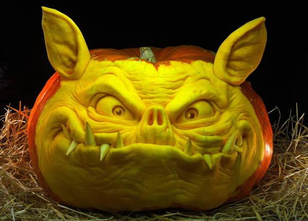 Jack-O-Lantern Boar
