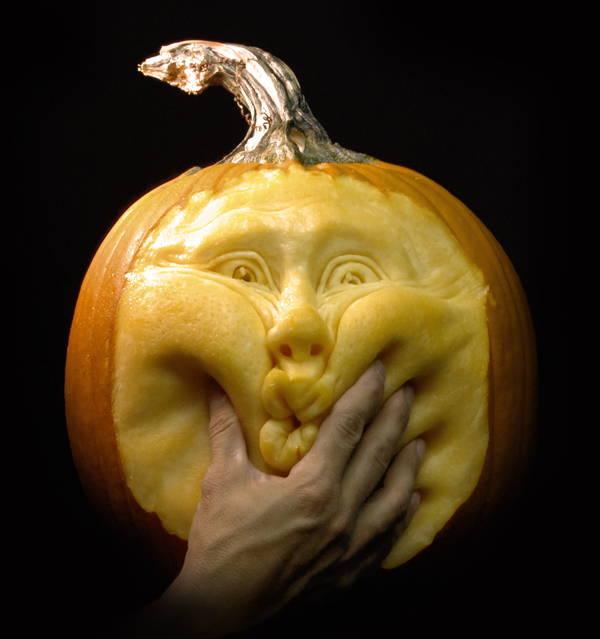 Jack-O-Lantern Squishy Face