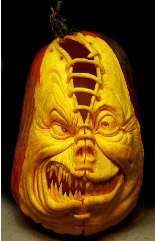 The incredible jack o lantern art of ray villafane Awesome pumpkin drawings