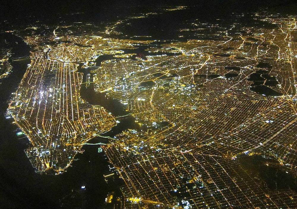 The Lights Of New York City Photograph
