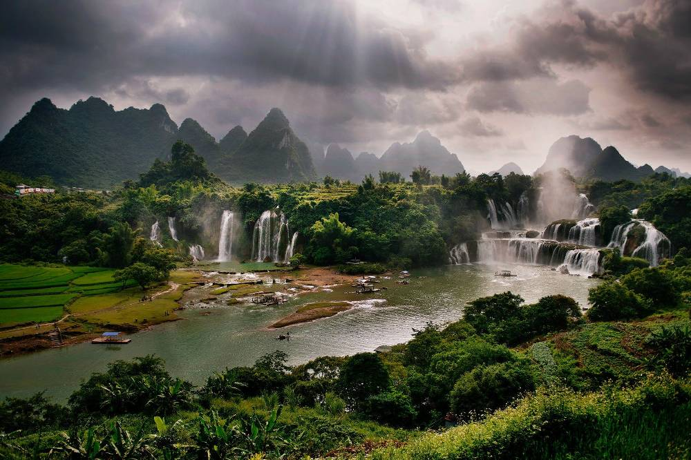Waterfalls In China's Guangxi Province