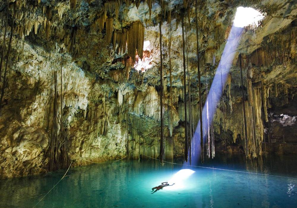 Xkeken Cenote In Mexico