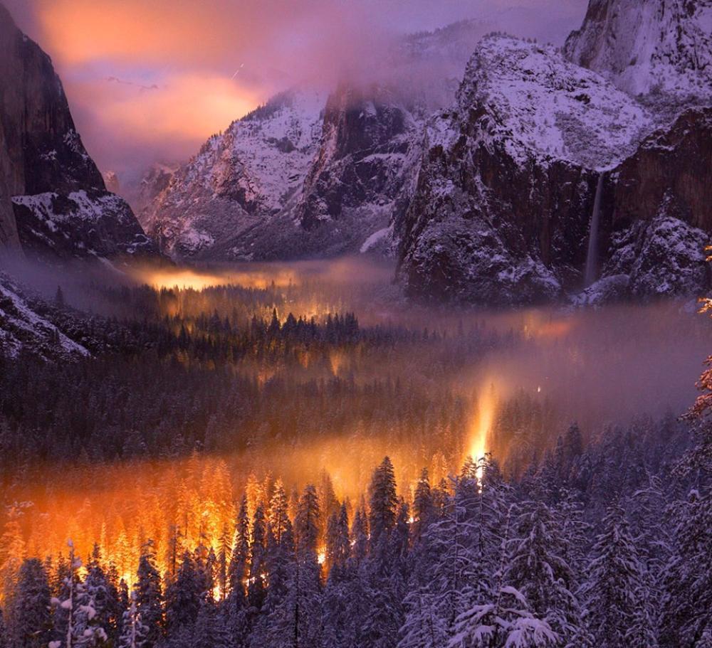 Yosemite Park At Dusk