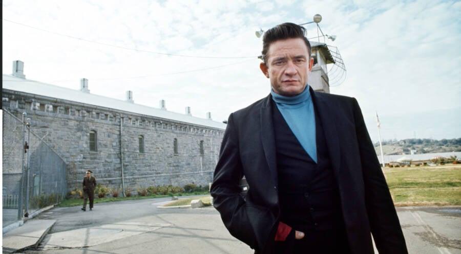 Johnny Cash Outside Folsom Prison