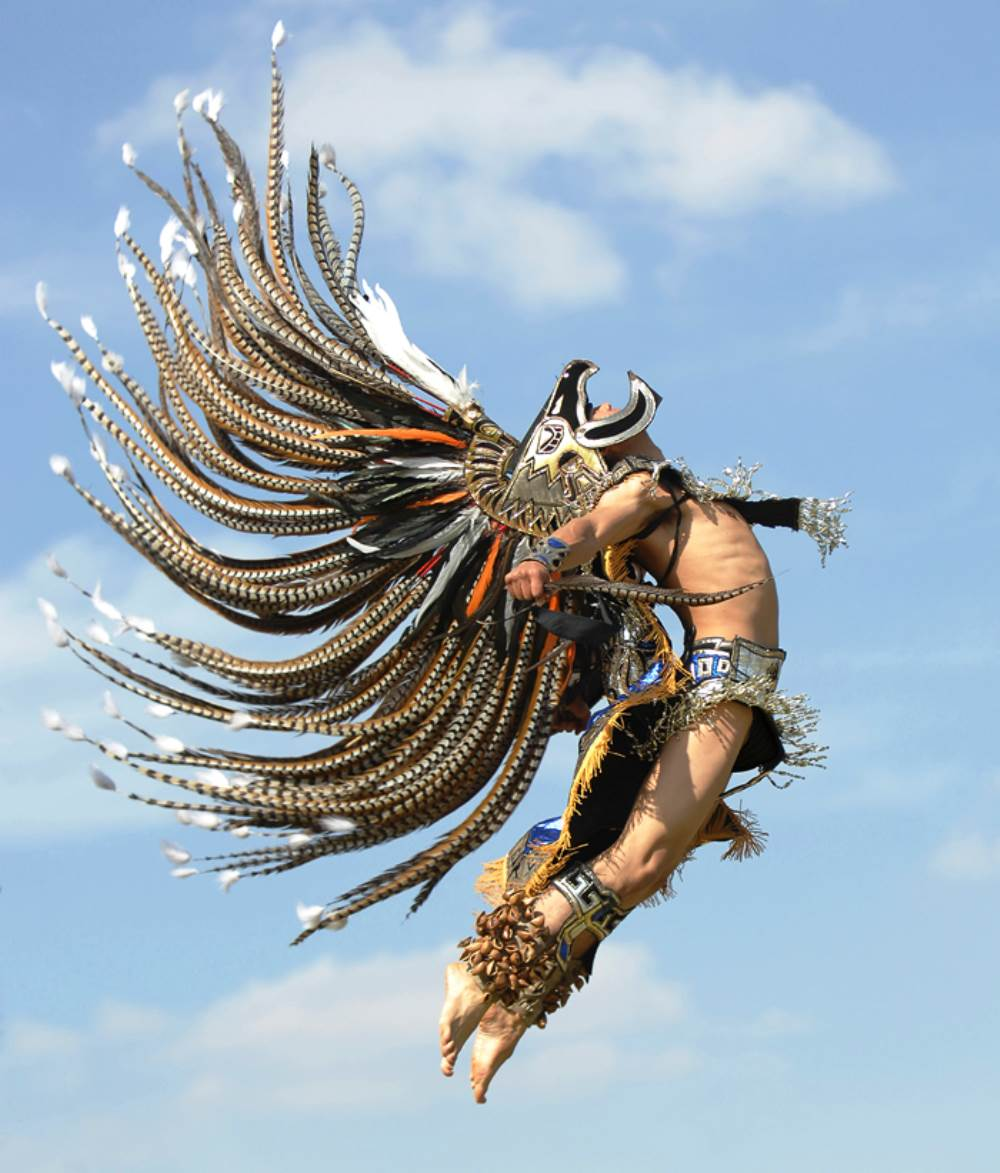 Aztec Warrior Jumping