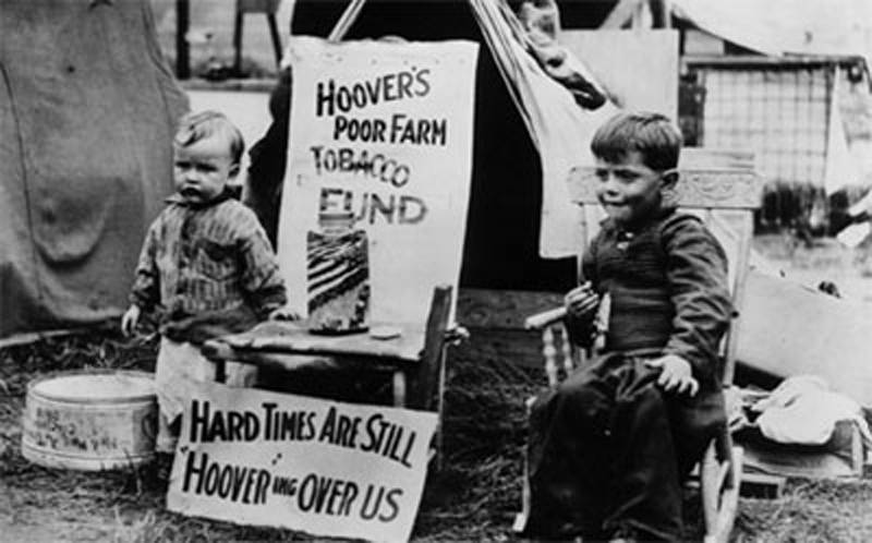 Great Depression In Pictures Protests