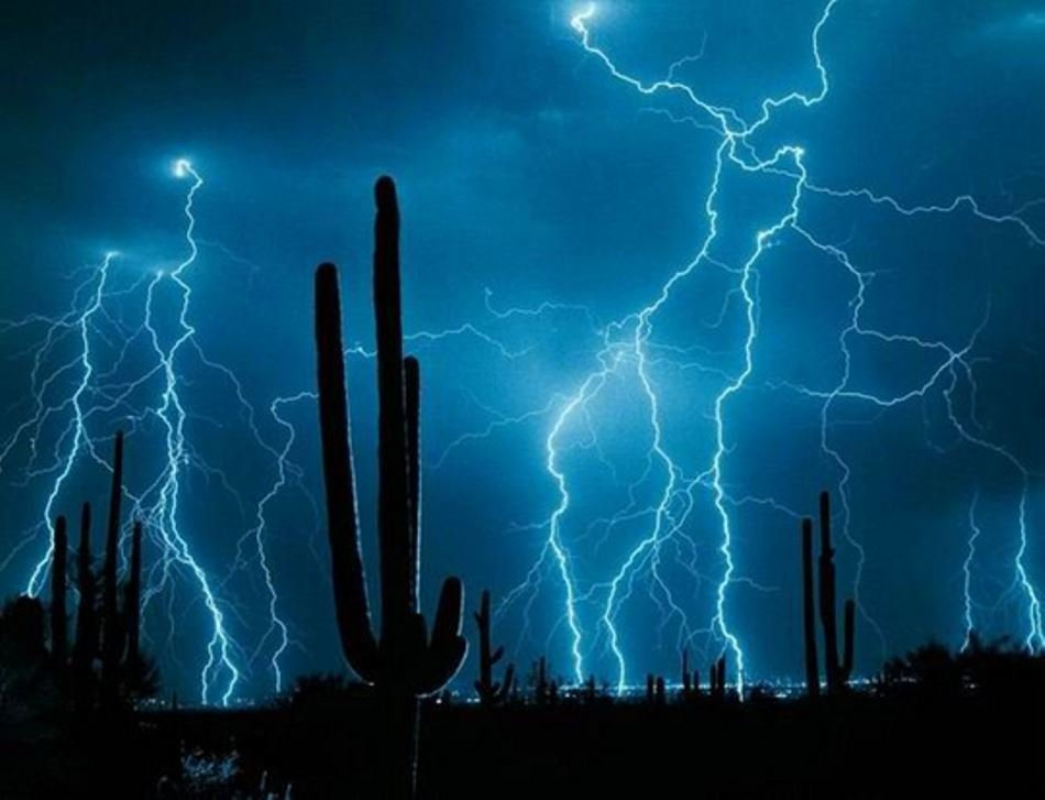 Lightning Strike in the Desert